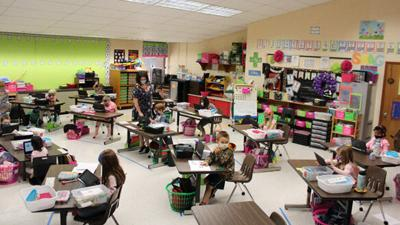 Powhatan County Public Schools' youngest students back in class full-time