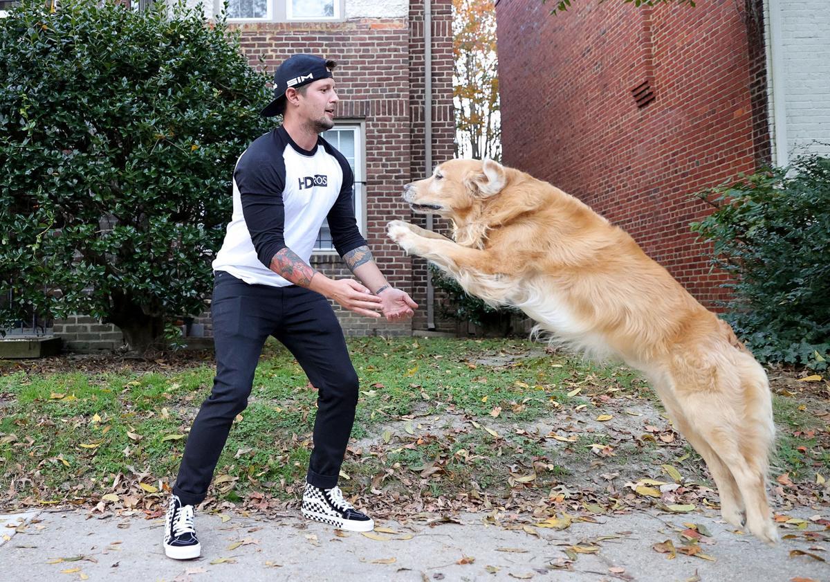 Nick Kime and his dog, Riley (copy)