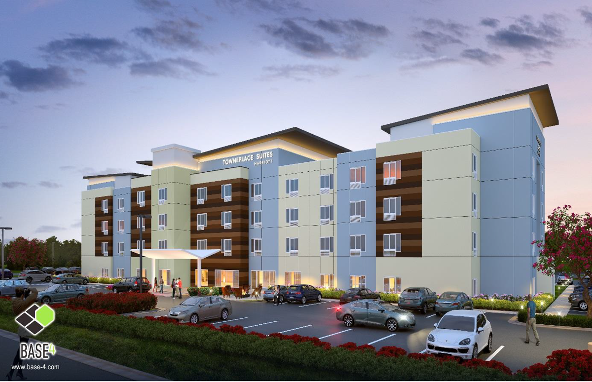 An Artist S Rendering Shows One Of Two Hotels Proposed Near The Ashland Exit For Interstate 95
