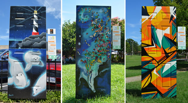 Door Art Installation : Find art doors richmond s largest public installation