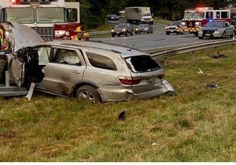 Fatal crash scene on I-95 in Hanover