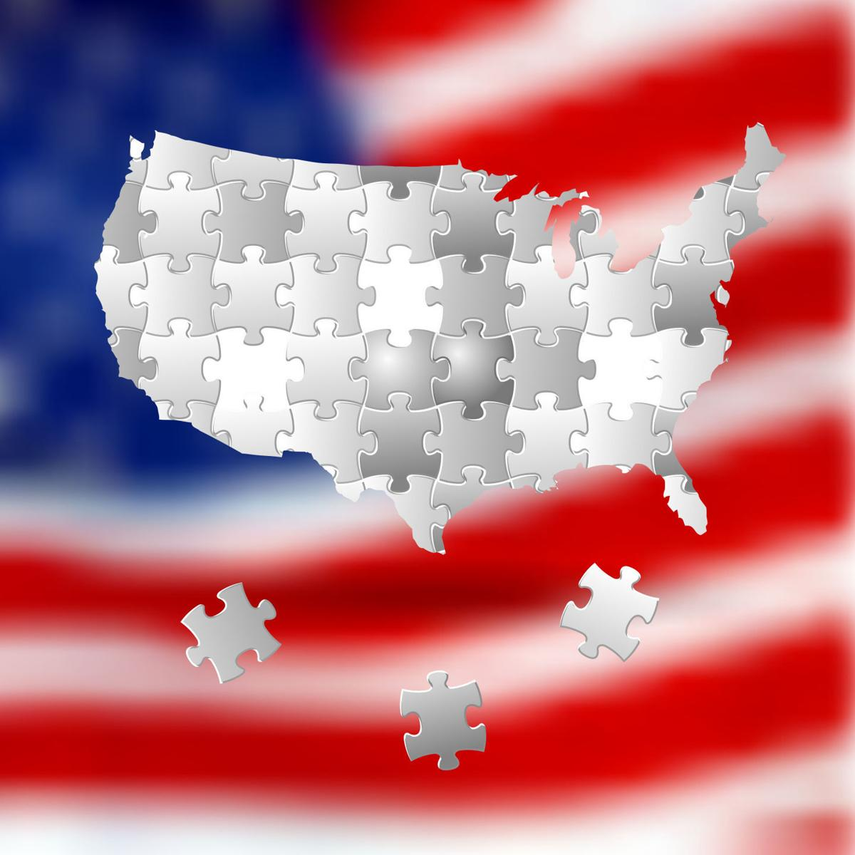 Vote for America, election background made from