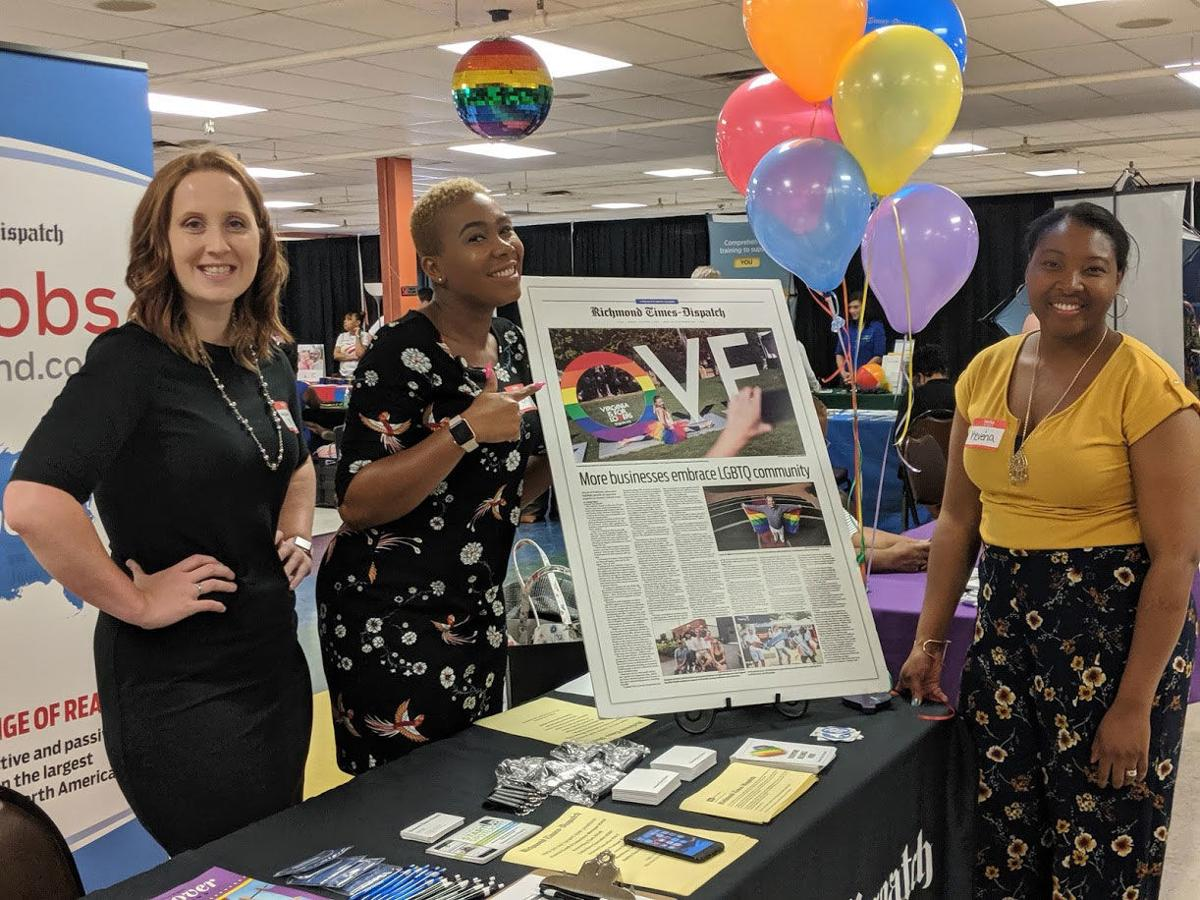 Representing the RTD at Diversity Richmond's Central Virginia LGBTQ Job Fair