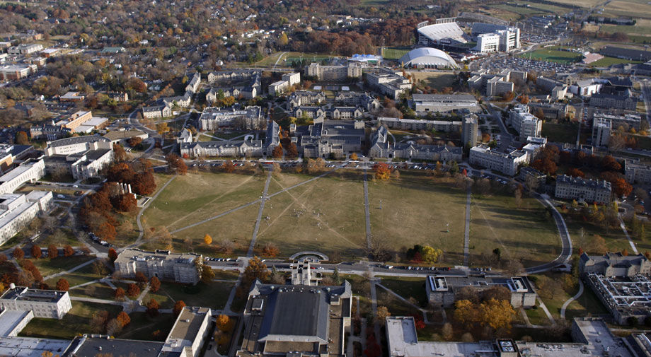 Virginia Tech campus aerial