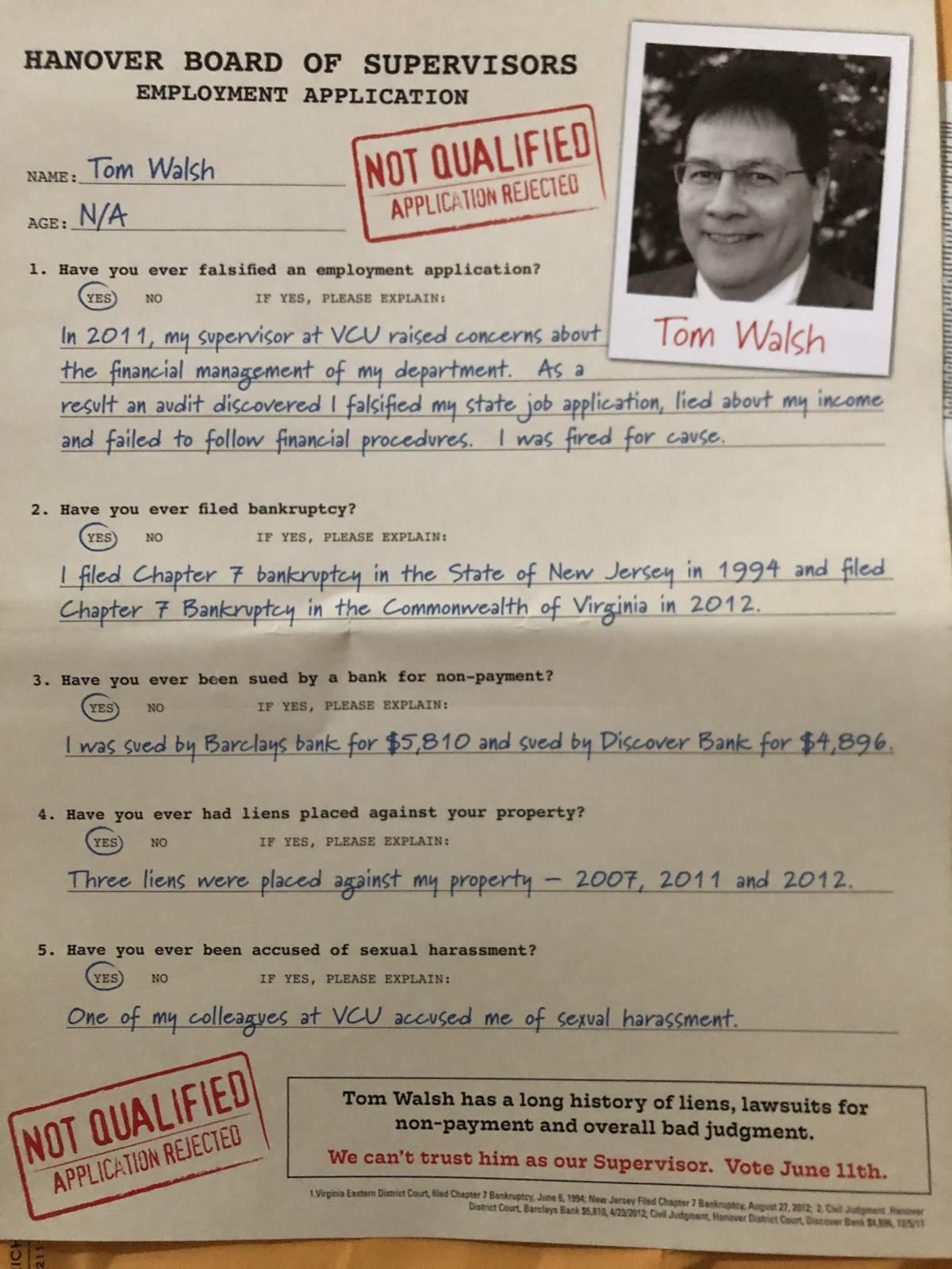 Anti-Walsh mailer