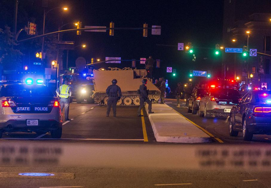 65df34fad0 Soldier who led police on 60-mile chase in stolen armored vehicle arrested  in downtown Richmond