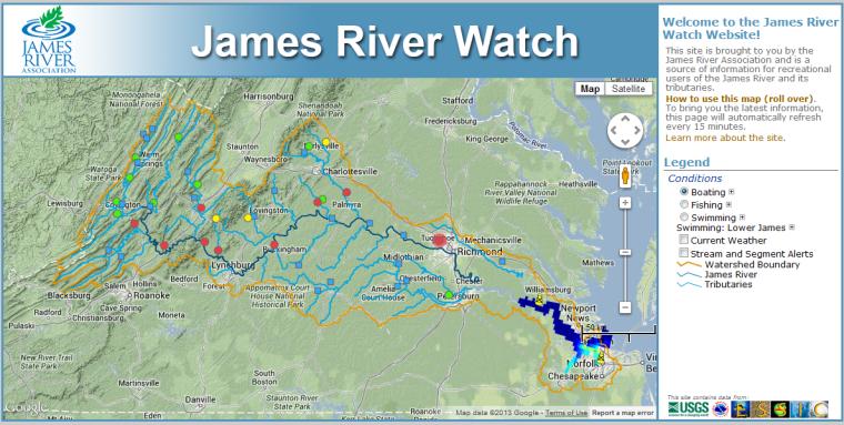 New Website James River Watch Recreation Richmond Com