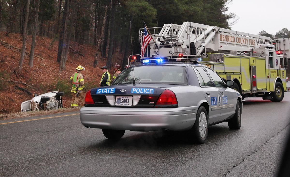One person taken to hospital after car overturns on I-64 | Crime