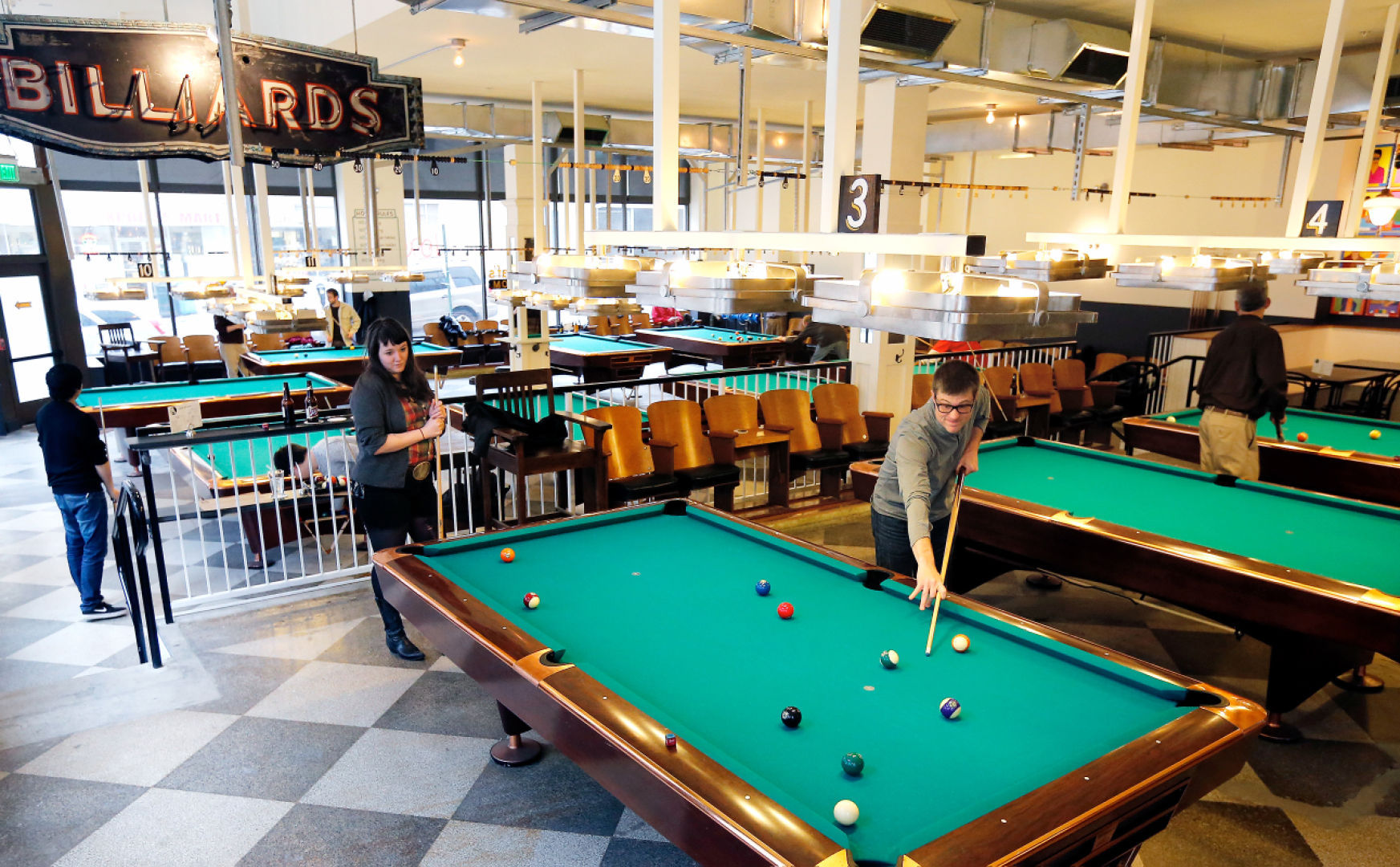 Downtown Pool Hall Nod To The Gameu0027s Glorious Past