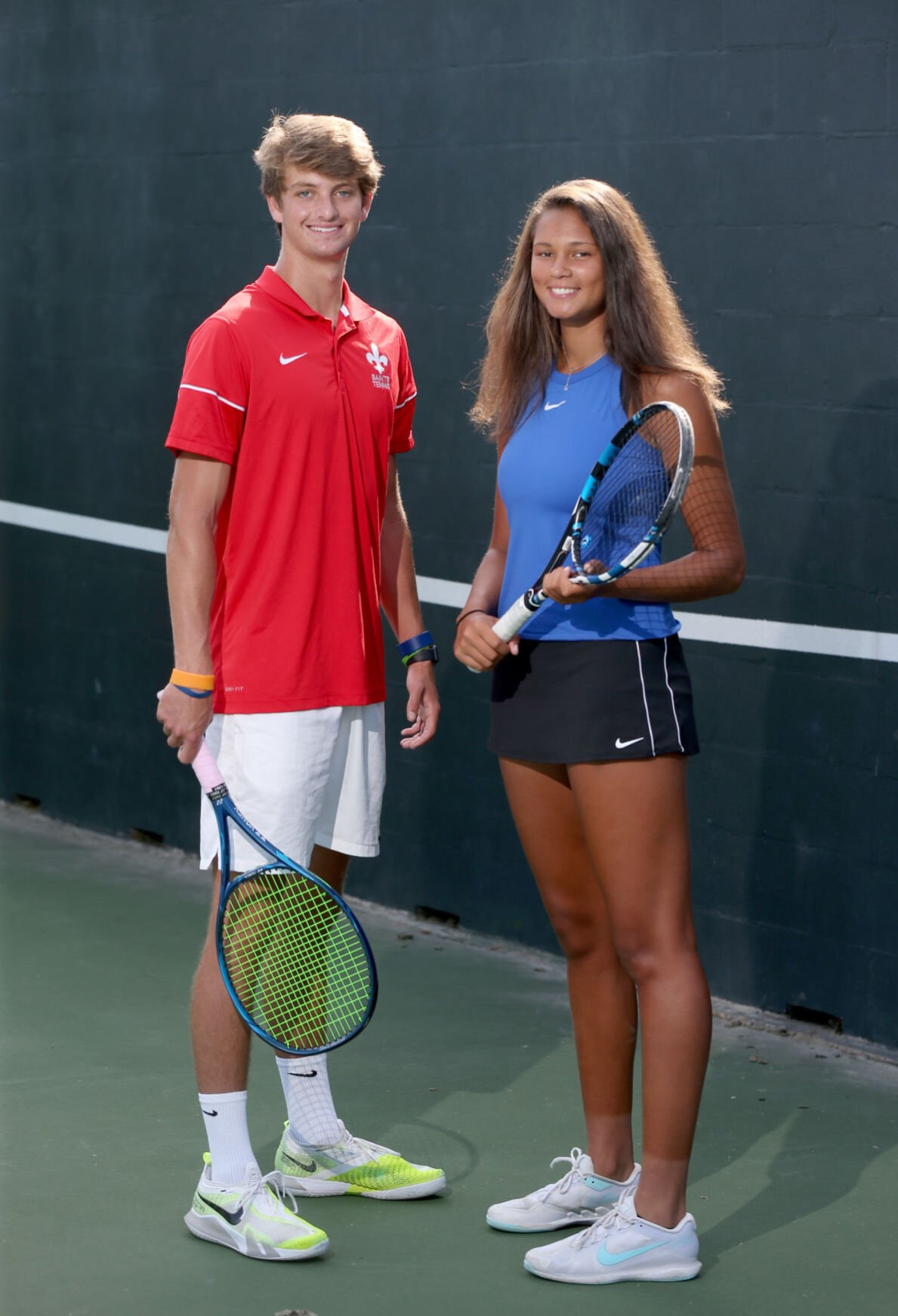 All-Metro tennis players of the year, Will Thompson and Olivia Wright