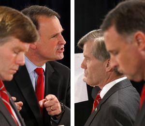 Gubernatorial debate turns contentious in N.Va.