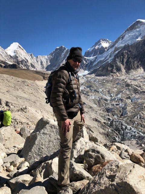 Philip Gibrall at Mount Everest