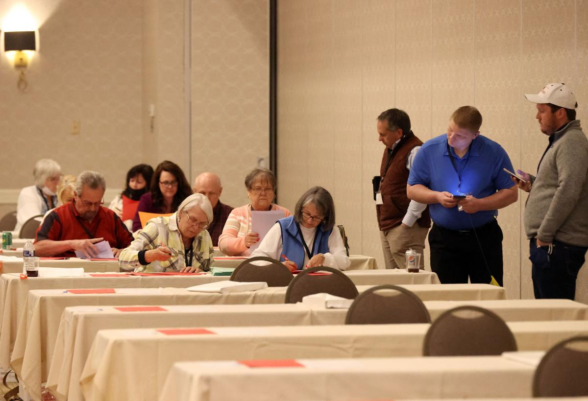 The Republican Party of Virginia tabulates the ballots