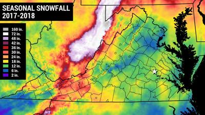we re very close to the end of virginia s snow season here s how it