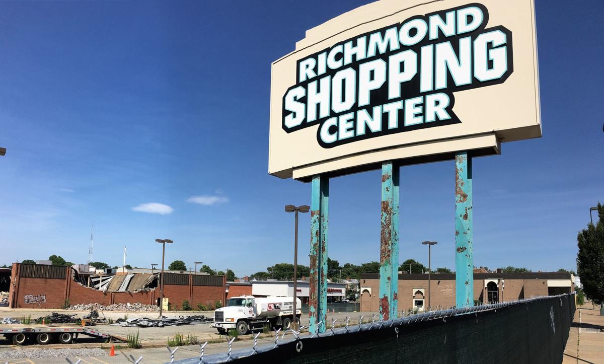 demolition of Richmond Shopping Center