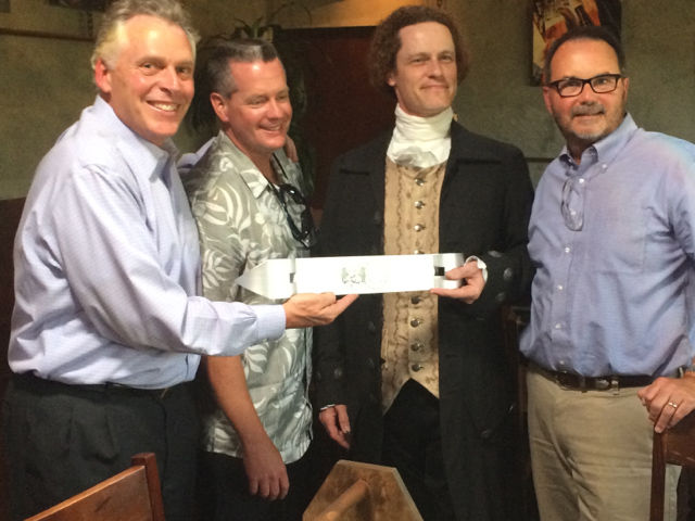 Va. Gov. Terry McAuliffe helped market Richmond as a location for Stone Brewing Co
