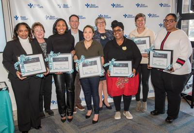Seven Businesses Were Recipients Of This Year S Supporting East End Entrepreneurship Development Grants They Are From Left To Right Charlene Spencer Taylor