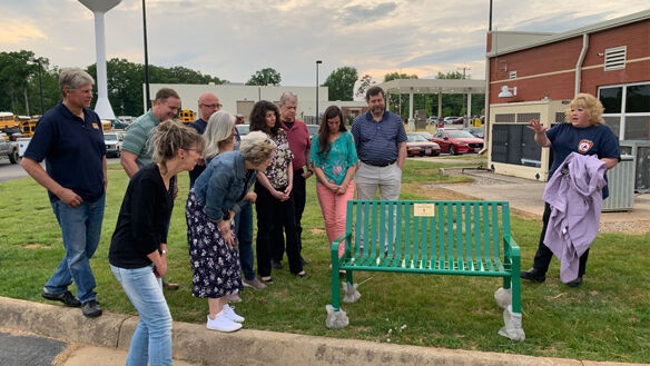 Bench dedicated to Powhatan firefighter's wife