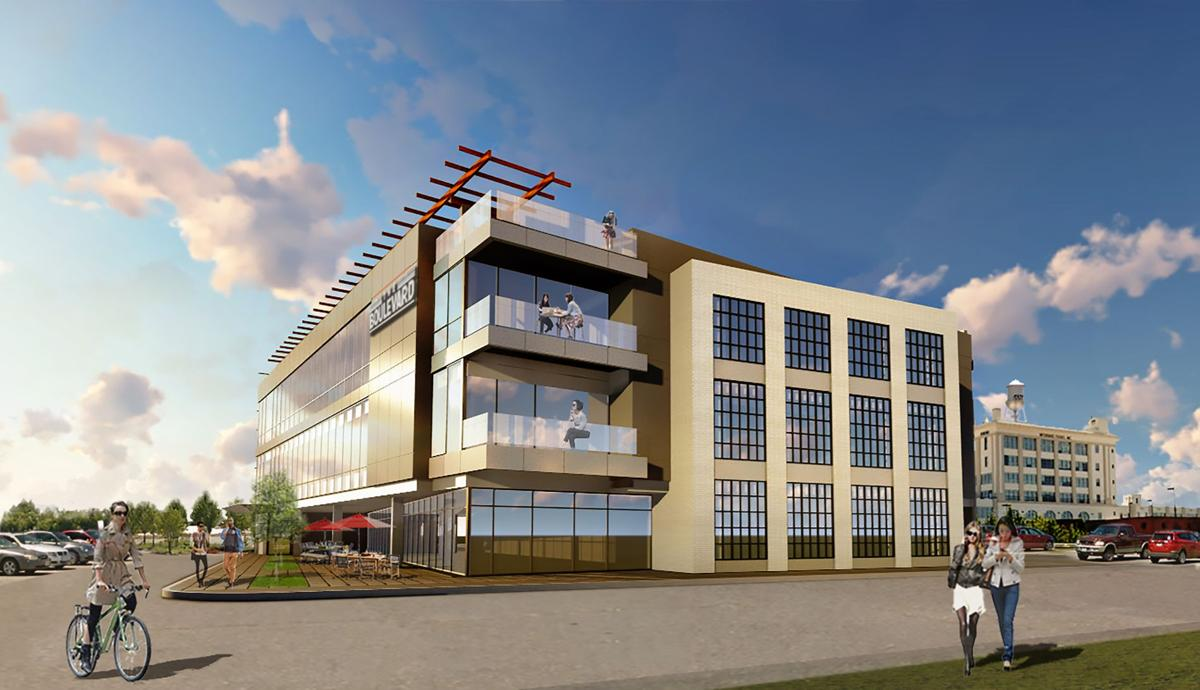 3-story Office Building Proposed For A Site Behind Buz And