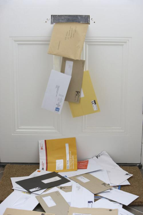 Mail falling through letters slot