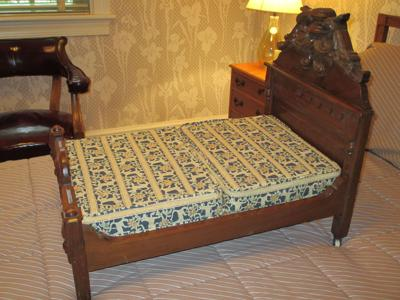 Antique Doll Bed Incolay Box