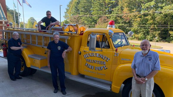 Four Powhatan firefighters honored for 50 years of service