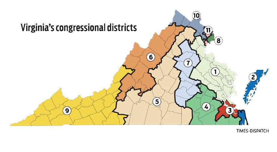 Image result for Virginia's districts gerrymandered 2018
