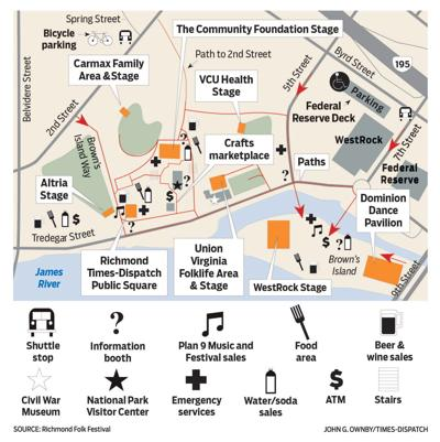 Richmond Folk Festival map 2016