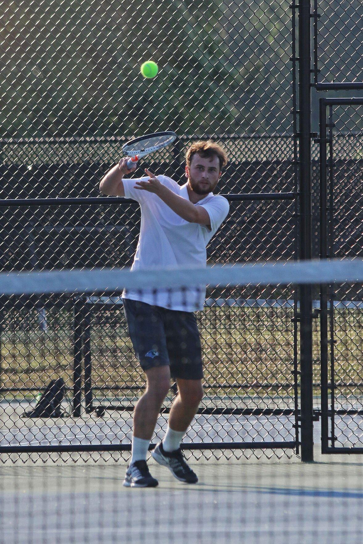 Region 4B boys tennis semifinal: Charles Adams