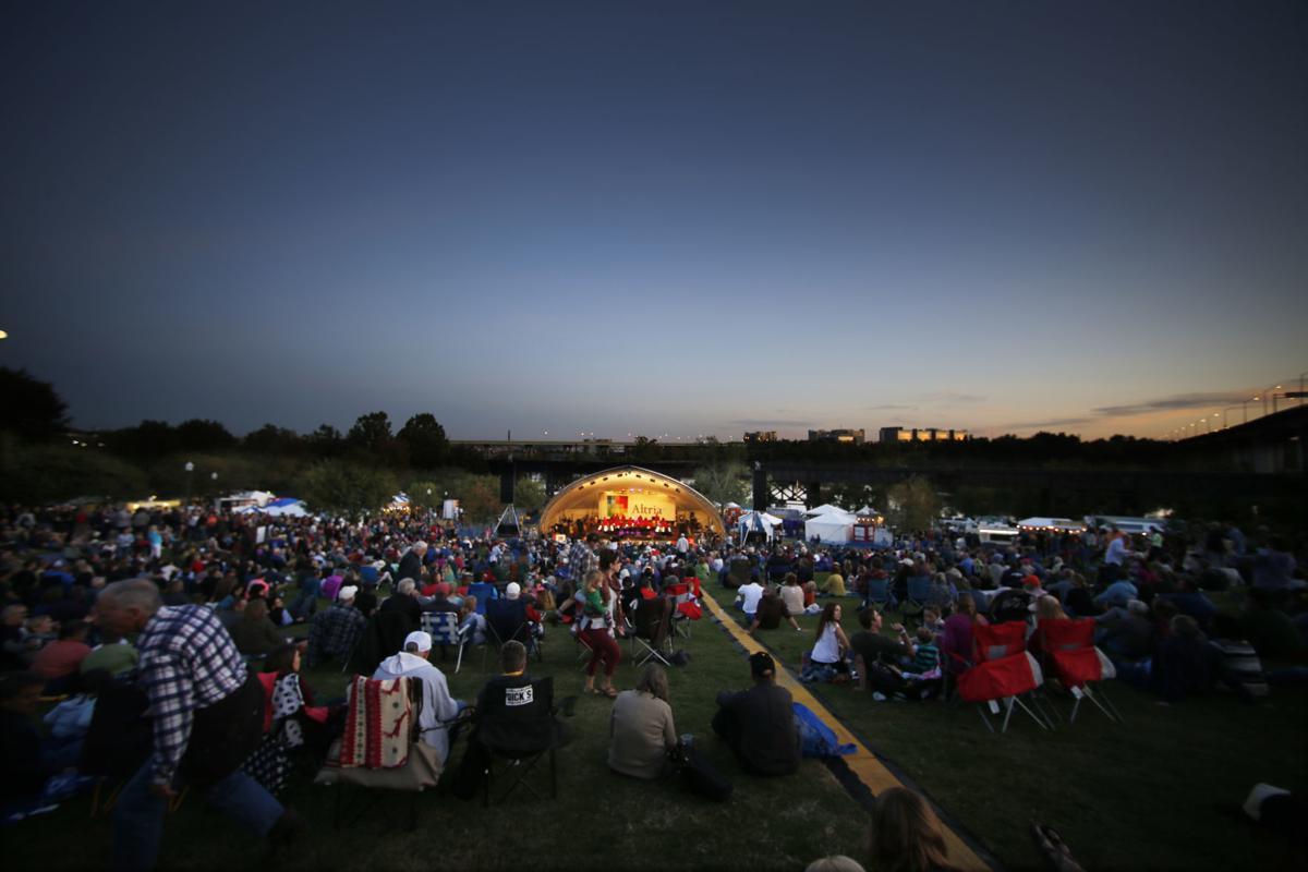 Opening night of the Richmond Folk Festival