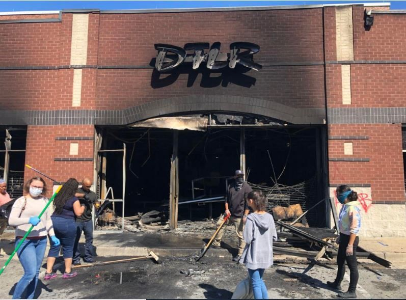 DTLR store fire on West Broad Street