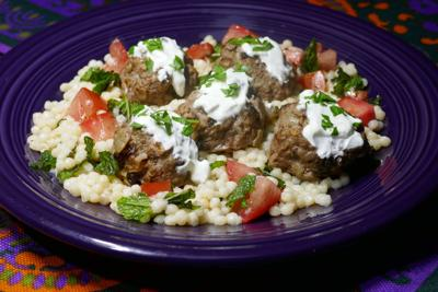 Middle Eastern Meatballs with Herbed Couscous