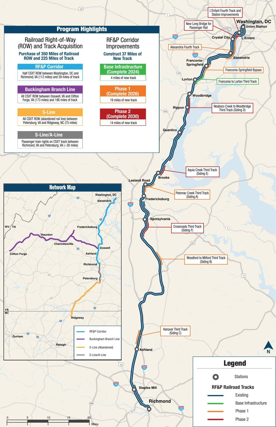 Map of Virginia Rail Project