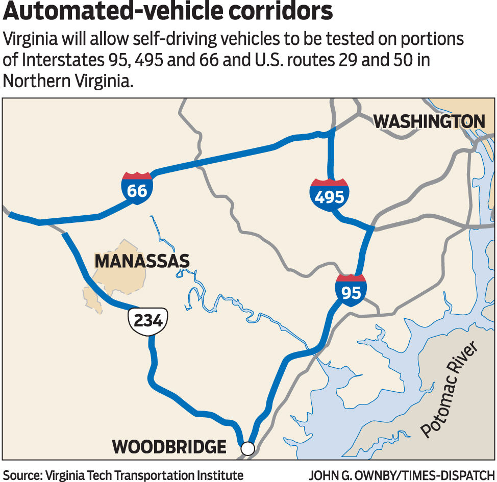 Self-driving cars to be tested on Virginia highways | News ...