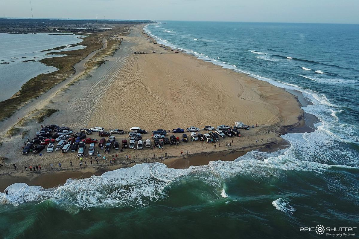 Cape Point on the Outer Banks is a popular spot for catching red drum in the spring and fall. Photo by Jenni Koontz of Epic Shutter Photography.