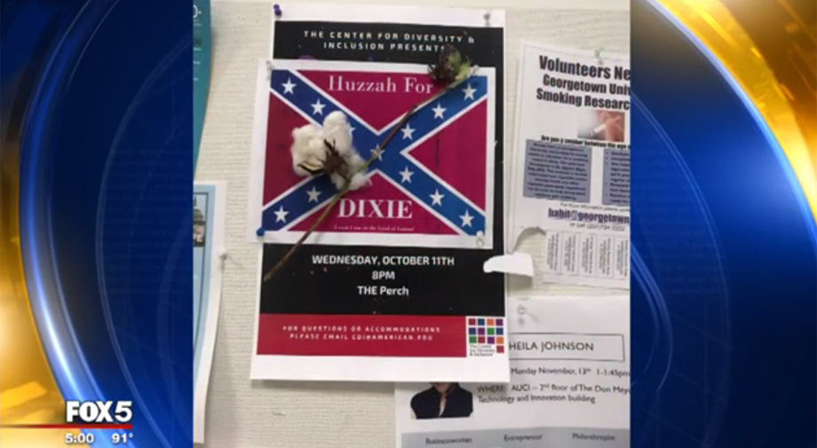 Confederate Flag Flyers With Cotton Found On American University Campus
