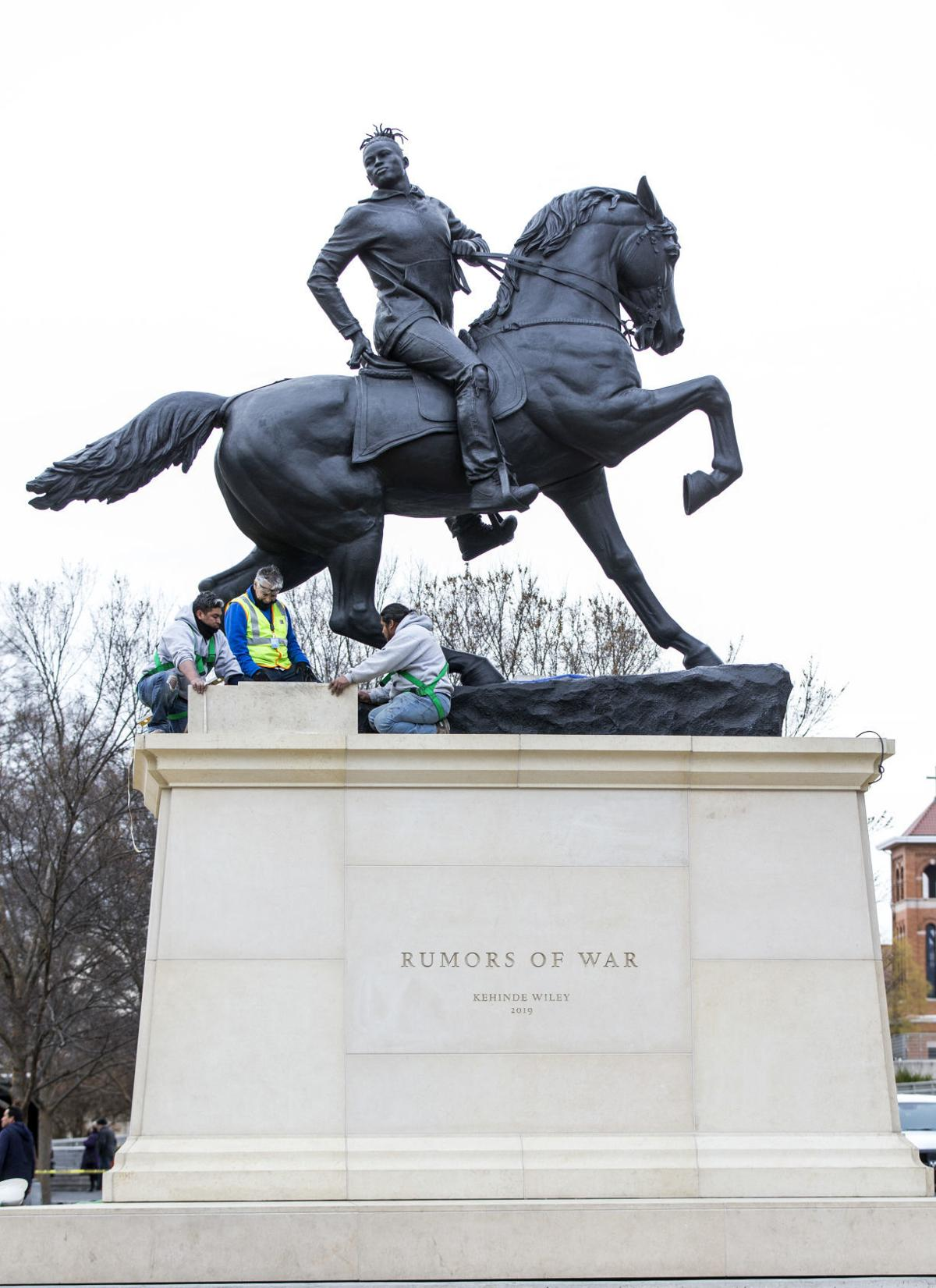 Kehinde Wiley statue