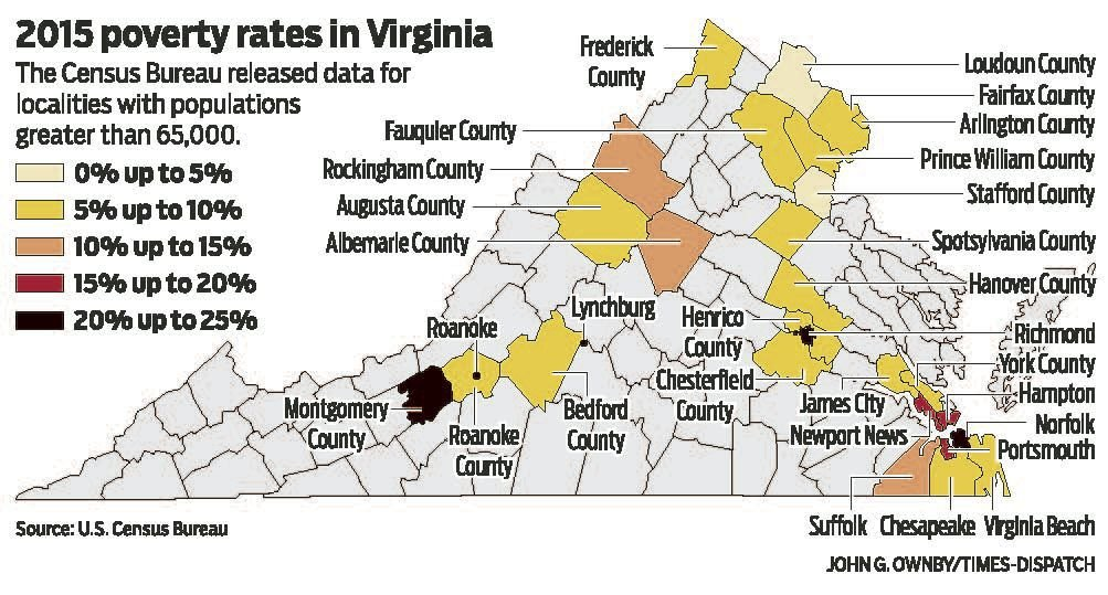 Richmond\'s poverty rate is second-highest in Virginia | Virginia ...