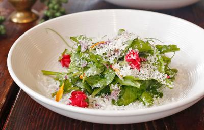 Simple salad with herbs