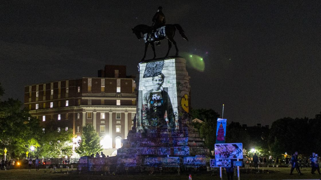 Projections at Lee Monument have offered peace in times of violence - a glimpse into what the monuments could be