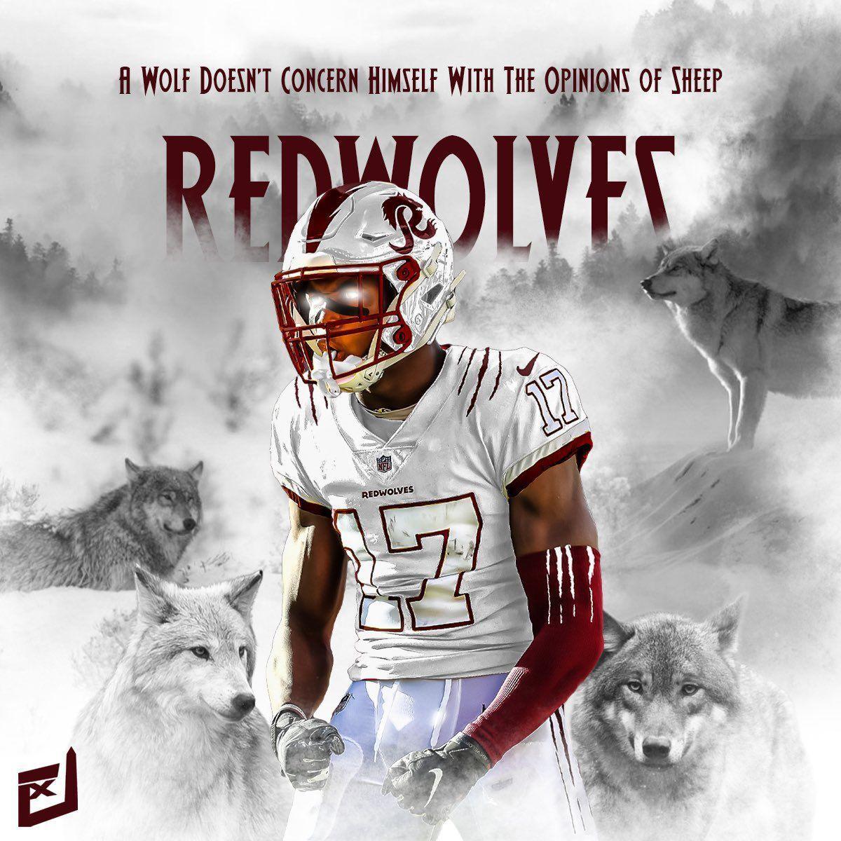 Washington Redwolves mock-up