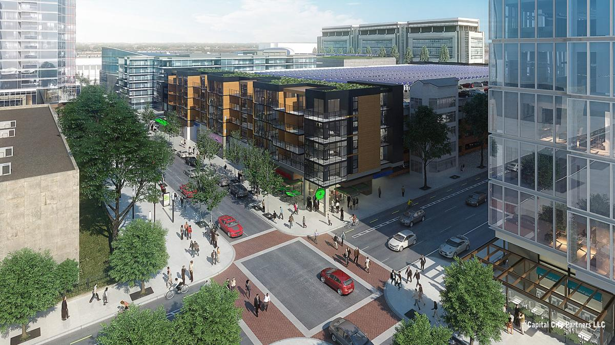 rendering of Navy Hill area