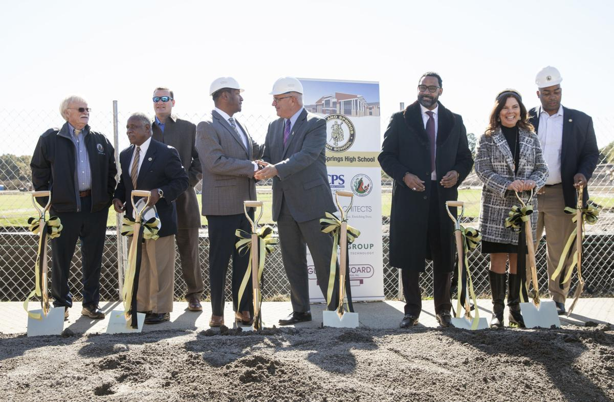 ceremonial ground breaking for the new Highland Springs High Sch