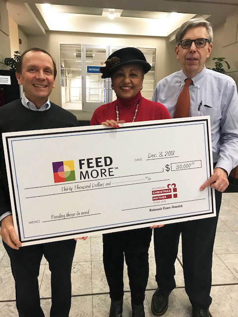 2018 Richmond Christmas Mother Fund Feedmore Check Presentation