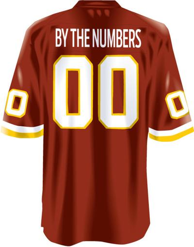 31bf22386 Distinguished Digits  The best Redskins players to wear each number ...