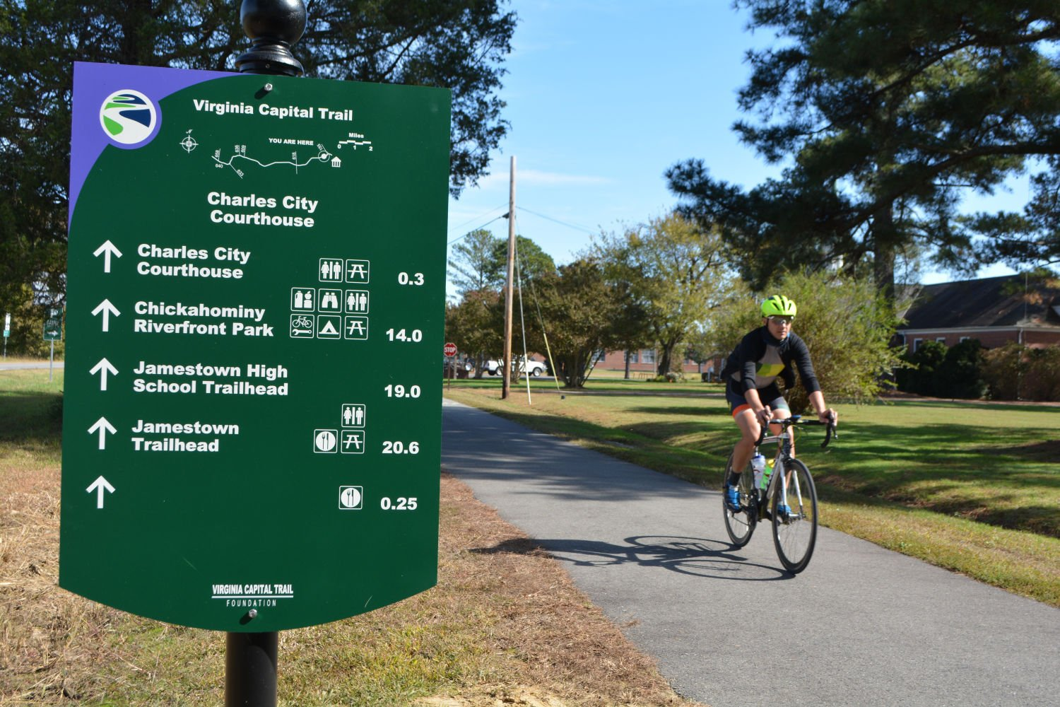 Trail highlights Cyclists in high gear over