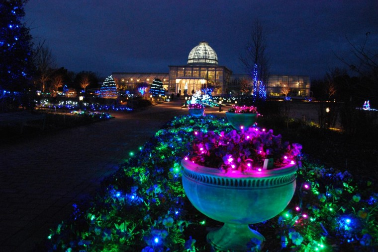 Gardenfest of lights at lewis ginter for Lewis ginter botanical gardens christmas