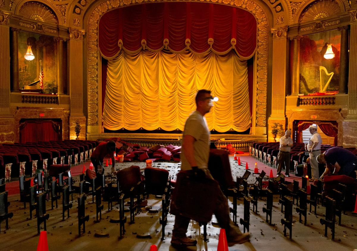 PHOTOS: Seat removal at the Byrd Theatre | Entertainment | richmond.com
