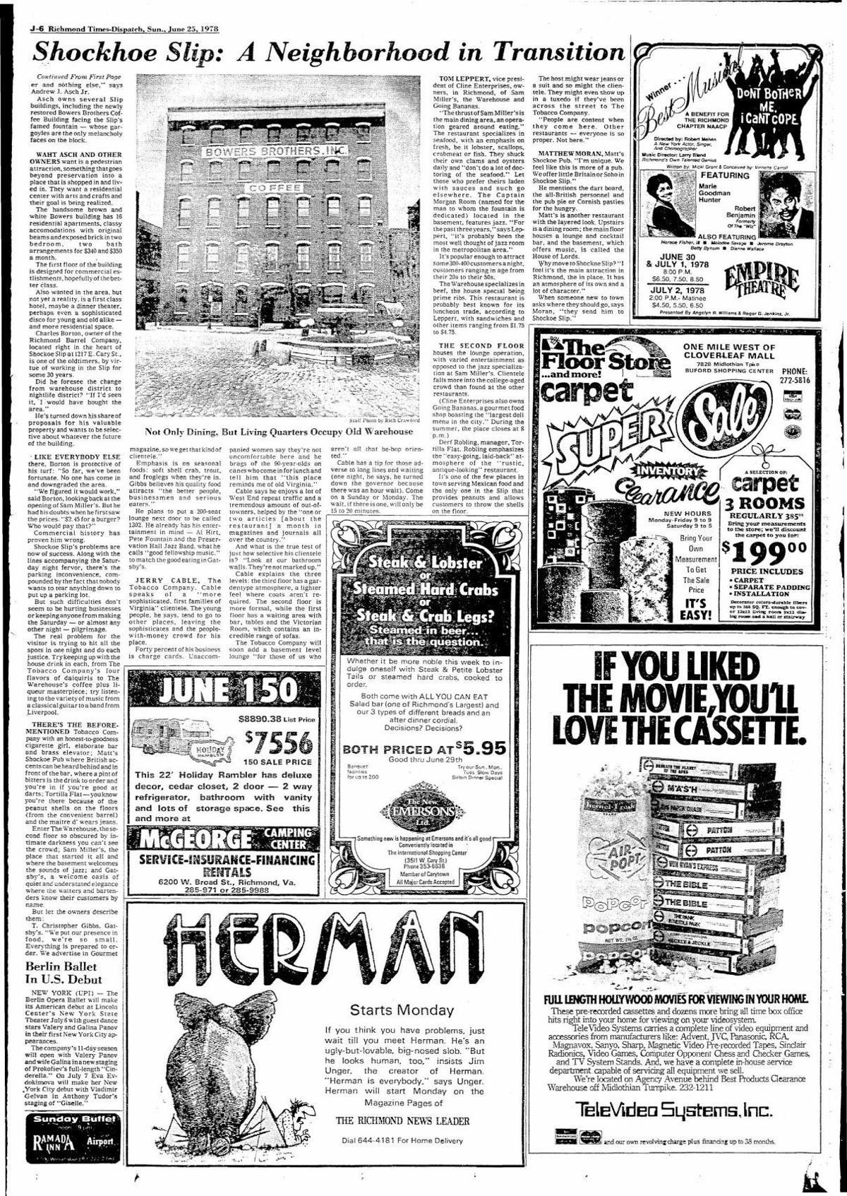 Shockoe Slip as a destination Part 2 RTD June 1978