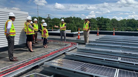 Legislators laud Powhatan County Public Schools' solar efforts